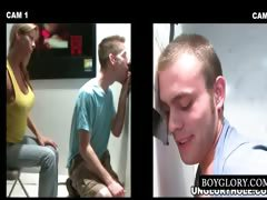 Straight And Gay Blowjob On Gloryhole