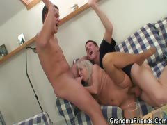 partying-guys-lure-granny-into-threesome