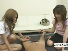 subtitled-real-japanese-amateur-friends-handjob-cumshot