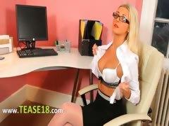 secretary-in-sexy-lingerie-undress-alone