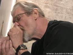 Daddy Sucking Glory Hole Cock