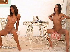 Two Russian Teenagers Naked Outdoor