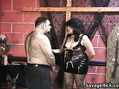 Fat And Hairy Dude Gets Tied And Ass Part1
