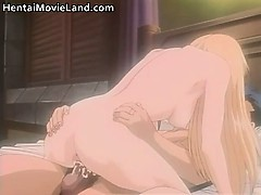sweet blond anime gets aroused as gets part1