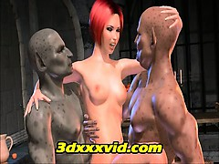 3D animated Monster Gangbang double feature