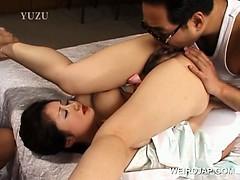Lovely Jap Redhead Babe Enjoying Hot Oral Sex