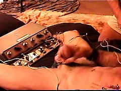 Cbt Extreme Electrostim On Mature Muscular And Hung Dude