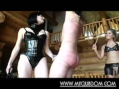 Guy Ass Whipped By Two Nasty Babes