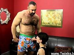 Gay Jocks Brad Glides His Man Sausage Up Benjamin's Rump San