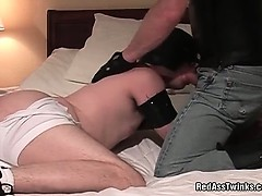 Horny Gay Dude Sucks Stiff Cock And Gets Spanked Before
