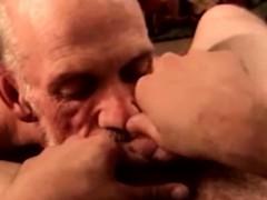 Blue collar guy getting throatfucked
