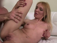 Blonde Amateur Fucks On Couch On Casting