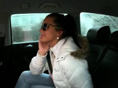 Pretty Amateur With Nice Big Tits Fucked By Fake Cab Driver