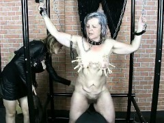 Nasty Old Slut Goes Crazy With Pegs Part5