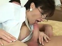 Busty Milf Playing With Cock