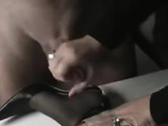 Cumming On Her Nylons