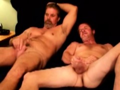 Mature Dudes Give Each Other Handjobs