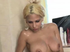 Busty Blonde Latina Babe Paris Sweet Gets Double Penetrated