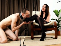 Sub Only Makes It To His Domina's Feet But That's More Than