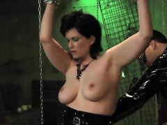 Curvy Female Slave Gets Ass Whipped In Dungeon
