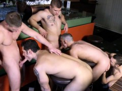 Gay Group Orgy Fun From A European Jock Bar