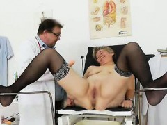 The Beautiful Blondie Madame Berta Gets Her Hole Examined