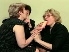 A Few Horny Grannies Playing With New Dildo