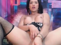 Beautiful Shemale With Perfect Round Ass Playing Her Cock