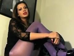 hot-slut-smoking-with-purple-pantyhose-on