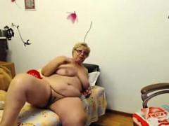 Webcam Fun Busty Bbw Granny Chrissy