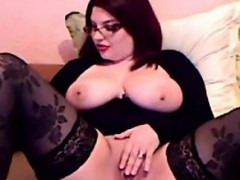 Thick And Busty Redhead With A Dildo