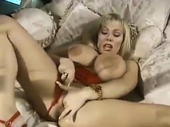 Busty Blonde Slut With Her Vibrator