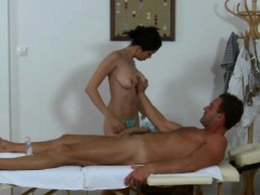 Busty Asian Masseuse Tugs In Front Of Spycam
