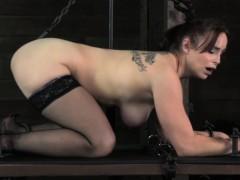 Lezdom master torments mature submissive