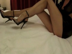 Jerking Off To High Heels And Getting A Hot Foot Job
