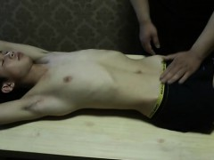 Cute Asian Slave Boy Stripped Naked