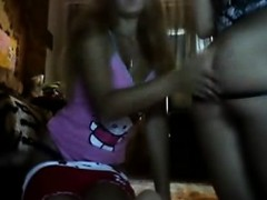 Two Hot Teens Flash And Finger Each Other On Webcam