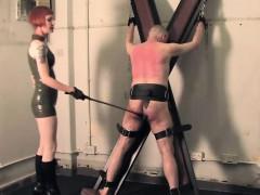 Femdom Interrogater Punishes Worthless Sub