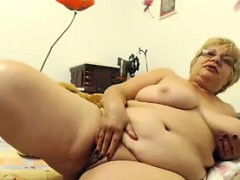 Old Bbw Showing Off Her Pussy