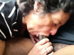 Amateur Granny Sucking On A Black Shaft