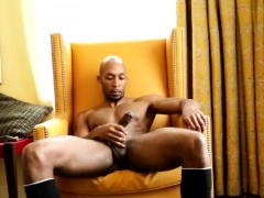 Ebony Stud Ramsees Jerking His Cock