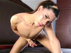 Playful Ladyboy Pleasuring Herself