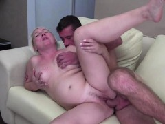 blonde mature gets banged by a young stud