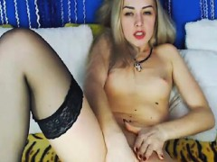 Blonde Babe Makes Herself Cum By Fingering Her Pussy