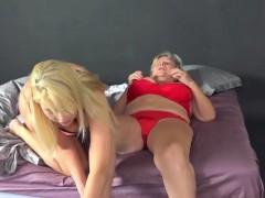 Old Marjorie Shoots A Lesbian Porno