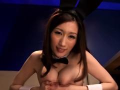 Busty Japanese Milf Titfucking Pov