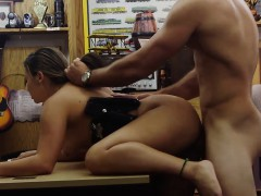 Police Officer Stuffed By Nasty Pawn Guy In His Pawnshop