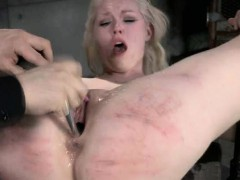 Bound Teen Gets Hot Wax And Squirts!