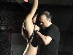 Cute Latina Girl Get Fucked In Bondage