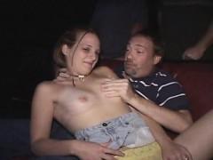Cute Redhead Teen Nikki Covered In Cum In The Porno Theater